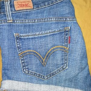 Levi's Cut Off Cuffed/Rolled Denim Shorts Size 9